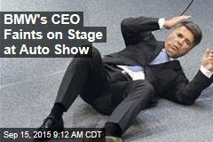BMW's CEO Faints on Stage at Auto Show