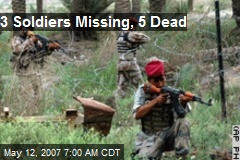 3 Soldiers Missing, 5 Dead