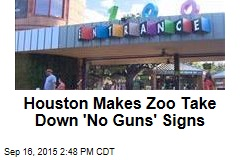 Houston Makes Zoo Take Down 'No Guns' Signs