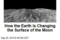 How the Earth Is Changing the Surface of the Moon