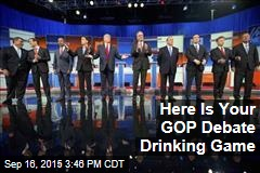 Here Is Your GOP Debate Drinking Game