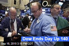 Dow Ends Day Up 140