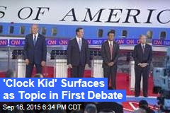 'Clock Kid' Surfaces as Topic in First Debate