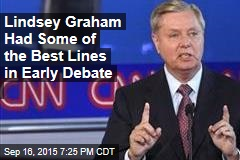 Lindsey Graham Had Some of the Best Lines in Early Debate