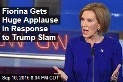 Fiorina Gets Huge Applause in Response to Trump Slam