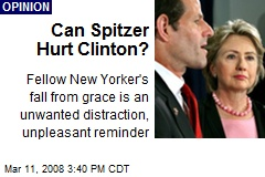 Can Spitzer Hurt Clinton?