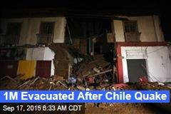 1M Evacuated After Chile Quake