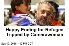 Happy Ending for Refugee Tripped by Camerawoman