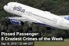 Pissed Passenger: 5 Craziest Crimes of the Week