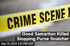 Good Samaritan Killed Stopping Purse Snatcher