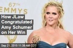 How JLaw Congratulated Amy Schumer on Her Win