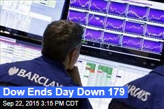Dow Ends Day Down 179