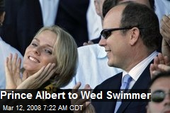 Prince Albert to Wed Swimmer