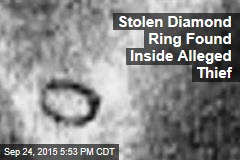 Stolen Diamond Ring Found Inside Alleged Thief
