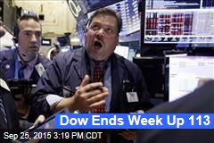 Dow Ends Week Up 113