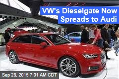 VW's Dieselgate Now Spreads to Audi