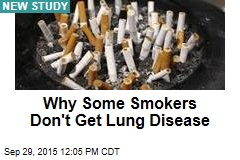 Why Some Smokers Don't Get Lung Disease
