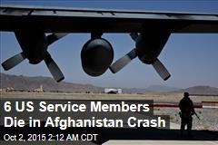 6 US Service Members Die in Afghanistan Crash