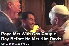 Pope Met Up With Gay Pal Day Before He Met Kim Davis