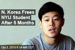 N. Korea Frees NYU Student After 5 Months