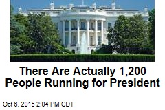 There Are Actually 1,200 People Running for President