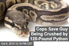 Cops Save Guy Being Crushed by 125-Pound Python