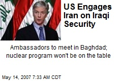 US Engages Iran on Iraqi Security