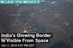 India's Glowing Border Is Visible From Space