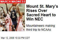 Mount St. Mary's Rises Over Sacred Heart to Win NEC