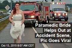 Paramedic Bride Helps Out at Accident Scene, Pic Goes Viral