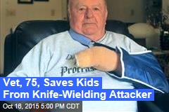 Elderly Vet Saves Kids From Knife-Wielding Attacker