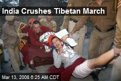 India Crushes Tibetan March