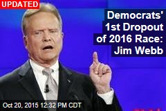 Democrats' 1st Dropout of 2016 Race: Jim Webb