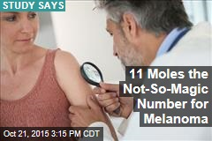 11 Moles the Not-So-Magic Number for Melanoma