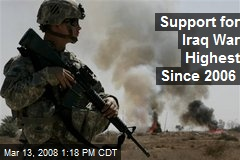 Support for Iraq War Highest Since 2006