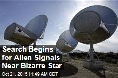 SETI Starts Search for Alien Signals Near Bizarre Star