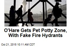 O'Hare Gets Pet Potty Zone, With Fake Fire Hydrants