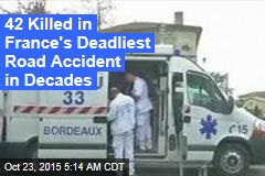 42 Killed in French Truck-Bus Crash