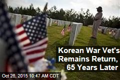 Korean War Vet's Remains Return, 65 Years Later