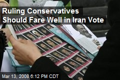 Ruling Conservatives Should Fare Well in Iran Vote