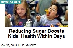 Reducing Sugar Boosts Kids' Health Within Days