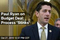 Paul Ryan on Budget Deal: Process 'Stinks'