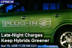 Late-Night Charges Keep Hybrids Greener