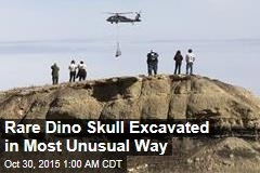 National Guard Airlifts Dino Skull From Wilderness