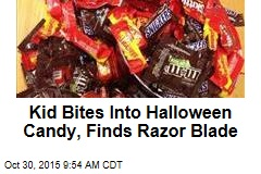 Kid Bites Into Halloween Candy, Finds Razor Blade