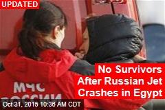 Russian Passenger Jet Crashes in Egypt