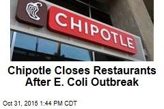 Chipotle Closes Restaurants After E. Coli Outbreak