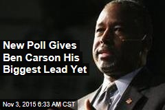 New Poll Gives Carson Biggest Lead Yet