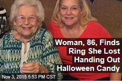 No Trick: Elderly Woman's Missing Ring Found