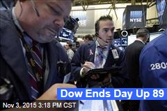 Dow Ends Day Up 89